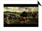 Race at Longchamp by Edouard Manet Prints by Édouard Manet