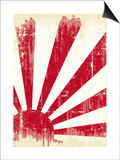 Grunge Japan Flag. An Old Japan Grunge Flag For You Print by  TINTIN75
