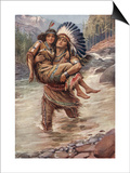 Hiawatha And Minnehaha Poster by Harold Copping