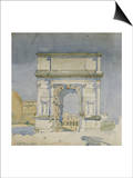 Rome, Arch of Titus, 1891 Posters by Charles Rennie Mackintosh