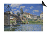 Bridge of Villeneuve-La-Garenne Poster by Alfred Sisley