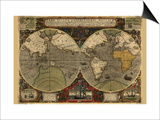 Vera Totius Expeditionis Nautica (World Map) Print by Abraham Ortelius