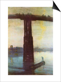 Old Battersea Bridge Prints by James Abbott McNeill Whistler