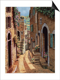 Tuscan Walkway Prints by Guido Borelli