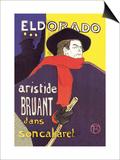 El Dorado: Aristide Bruant dans Son Cabaret Pósters por Henri de Toulouse-Lautrec