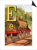 E For the Engine That's Lighted With Coke Poster by Edmund Evans