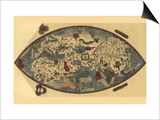 Genoese World Map Posters by Paolo del Pozzo Toscanelli