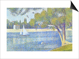 The Seine by the Island of Jatte in Spring Posters by Georges Seurat