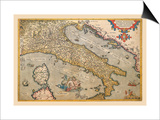Map of Italy Prints by Abraham Ortelius