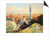 Barcelona, Park Guell Prints by  kirilstanchev