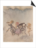 Each One Tripping On His Toe Will Be Here With Mop And Mow Posters by Arthur Rackham