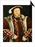 Portrait of King Henry VIII Prints by Hans Holbein the Younger