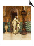 An Arab in a Palace Interior Prints by Rudolph Ernst