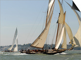 Mariette under Sail, Solent Race, British Classic Yacht Club Regatta, Cowes Classic Week, 2008 Prints by Rick Tomlinson