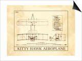 Kitty Hawk Aeroplane Print
