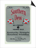 Southern Dew Kentucky Straight Bourbon Whiskey Print