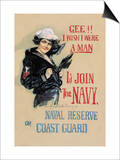 Gee!! I Wish I Were a Man Posters by Howard Chandler Christy