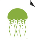 Green Jellyfish Prints by  Avalisa