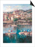 Mediterranean Harbor II Prints by Peter Bell