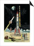 Friction Moon Rocket Prints