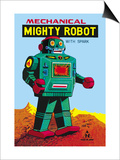 Mechanical Green Mighty Robot with Spark Prints