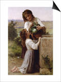 At The Fountain Art by William Adolphe Bouguereau