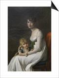 Madame Philippe Desbassayns De Richemont (Jeanne Eglé Mourgue, 1778–1855) and Her Son, Eugène Prints by Marie Guilhelmine Benoist