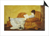 Young Lady Reading Prints by Mary Cassatt
