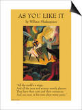 As You Like it - All the World's a Stage Prints