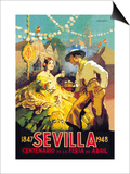 Sevilla Centenario de la Feria de Abril Prints by Newell Convers Wyeth