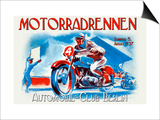 Motorradrennen - Auto Club Berlin Print by Jason Pierce