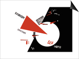 Lazar Lisitsky - Drive Red Wedges into White Troops! Plakát