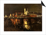The Illumination of the Kremlin, 1896 Art by Isaac Il'ich Levitan