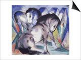 Two Horses, 1913 Print by Franz Marc