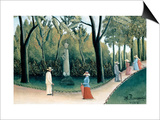 Luxembourg Gardens - Monument to Chopin Affiches par Henri Rousseau