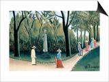 Luxembourg Gardens - Monument to Chopin Kunst von Henri Rousseau