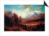 Estes Park Poster by Albert Bierstadt