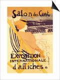 Salon des Cent: Exposition Internationale d'Affiches Art by Henri de Toulouse-Lautrec