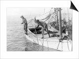 Fishing Oysters in Mobile Bay Prints by Lewis Wickes Hine