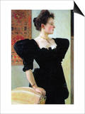 Portrait of Marie Breunig Lámina por Gustav Klimt