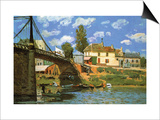 The Bridge at Villeneuve-La-Garenne Print by Alfred Sisley