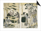 Silk-Worm Culture by Women Print by Kitagawa Utamaro