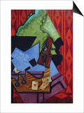 Violin and Playing Cards Posters by Juan Gris