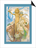 Snow Queen and Child Posters by Alphonse Mucha