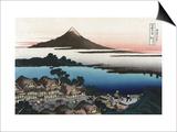 Dawn at Isawa in Kai Province Posters by Katsushika Hokusai