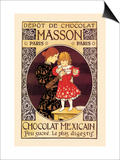 Depot de Chocolat Masson: Chocolat Mexicain Prints by Eugene Grasset