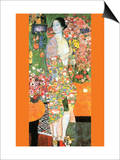 The Dancer Poster van Gustav Klimt