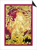 Ivy Poster by Alphonse Mucha