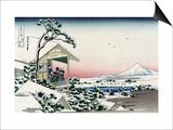 Tea House at Koishikawa Kunstdrucke von Katsushika Hokusai