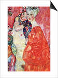 The Girlfriends Pósters por Gustav Klimt